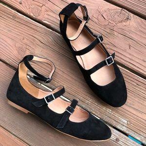 Madewell Elsa Strap Black Flats